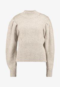 Topshop - BANANA SLEEVE FUNNEL - Stickad tröja - mink - 4
