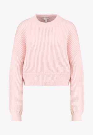 POINTELLE CROP - Stickad tröja - pink