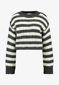 Topshop - CREW - Stickad tröja - grey - 4