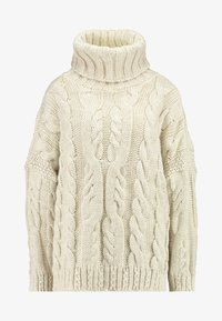 Topshop - CHUNKY CABLE ROLL - Strickpullover - oat - 4