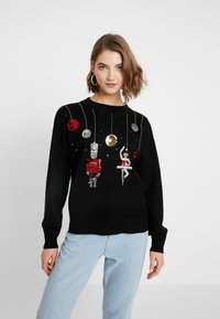 Topshop - SEQUIN NUTCRACKER - Jumper - black - 0