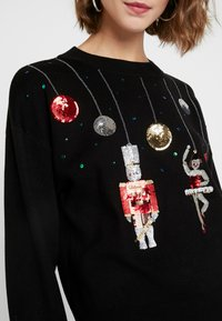 Topshop - SEQUIN NUTCRACKER - Jumper - black - 4