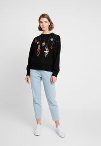 Topshop - SEQUIN NUTCRACKER - Jumper - black - 1