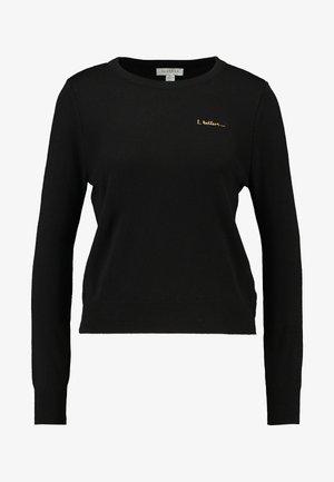 SLOGAN CREST - Sweter - black