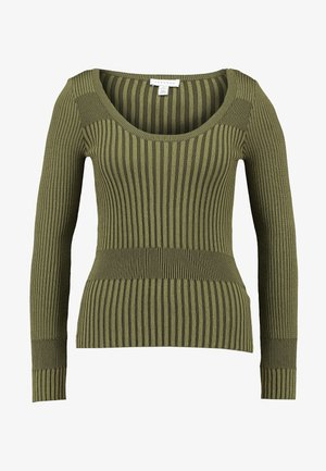 PLATED WIDE SCOOP - Pullover - khaki