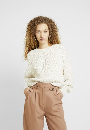 CABLE CROP - Jumper - oat