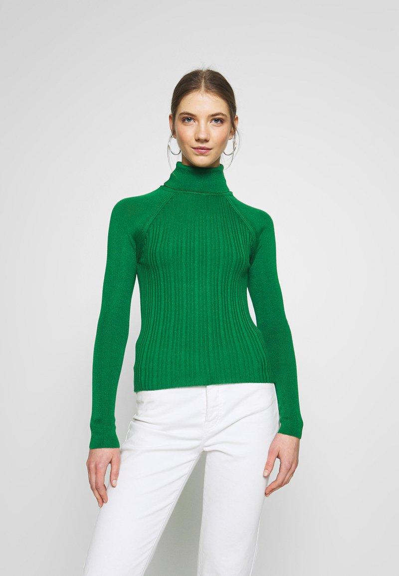 Topshop - RIB RAG ROLL - Sweter - green