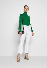 Topshop - RIB RAG ROLL - Sweter - green - 1