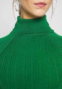 Topshop - RIB RAG ROLL - Sweter - green - 5