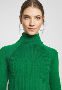 Topshop - RIB RAG ROLL - Sweter - green - 3