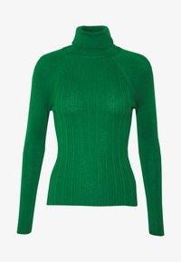 Topshop - RIB RAG ROLL - Sweter - green - 4