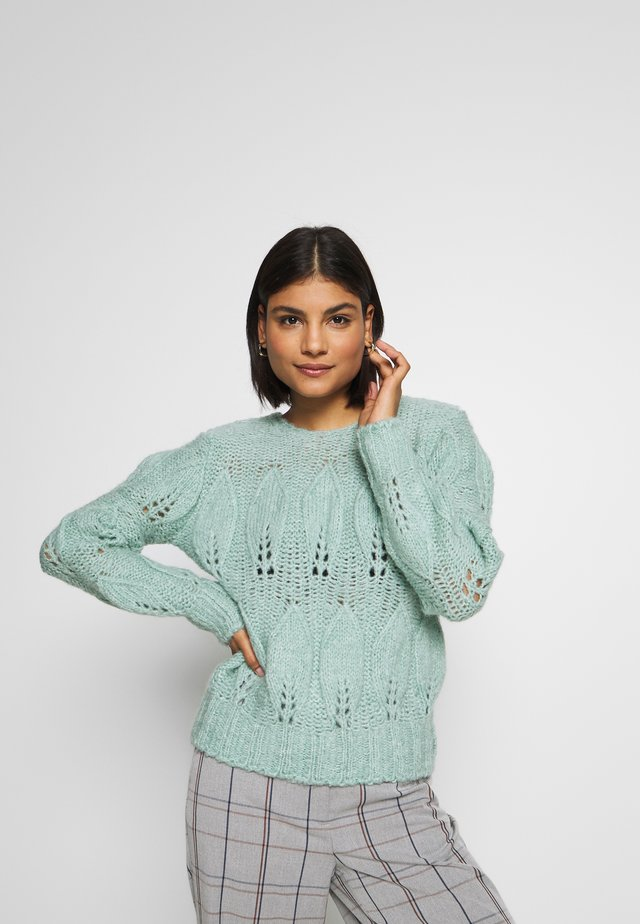 ALL OVER PETAL GAUZY - Maglione - mint