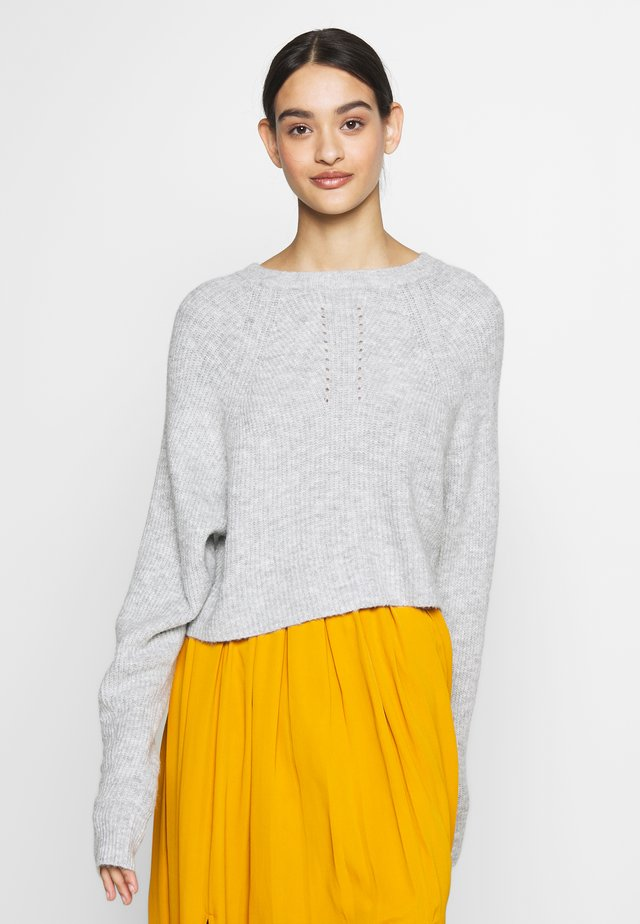 STRMO POINTELLE - Stickad tröja - grey