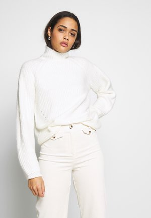 POINTELLE FUNNEL - Pullover - ivory
