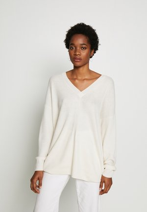 V NECK - Jumper - ivory