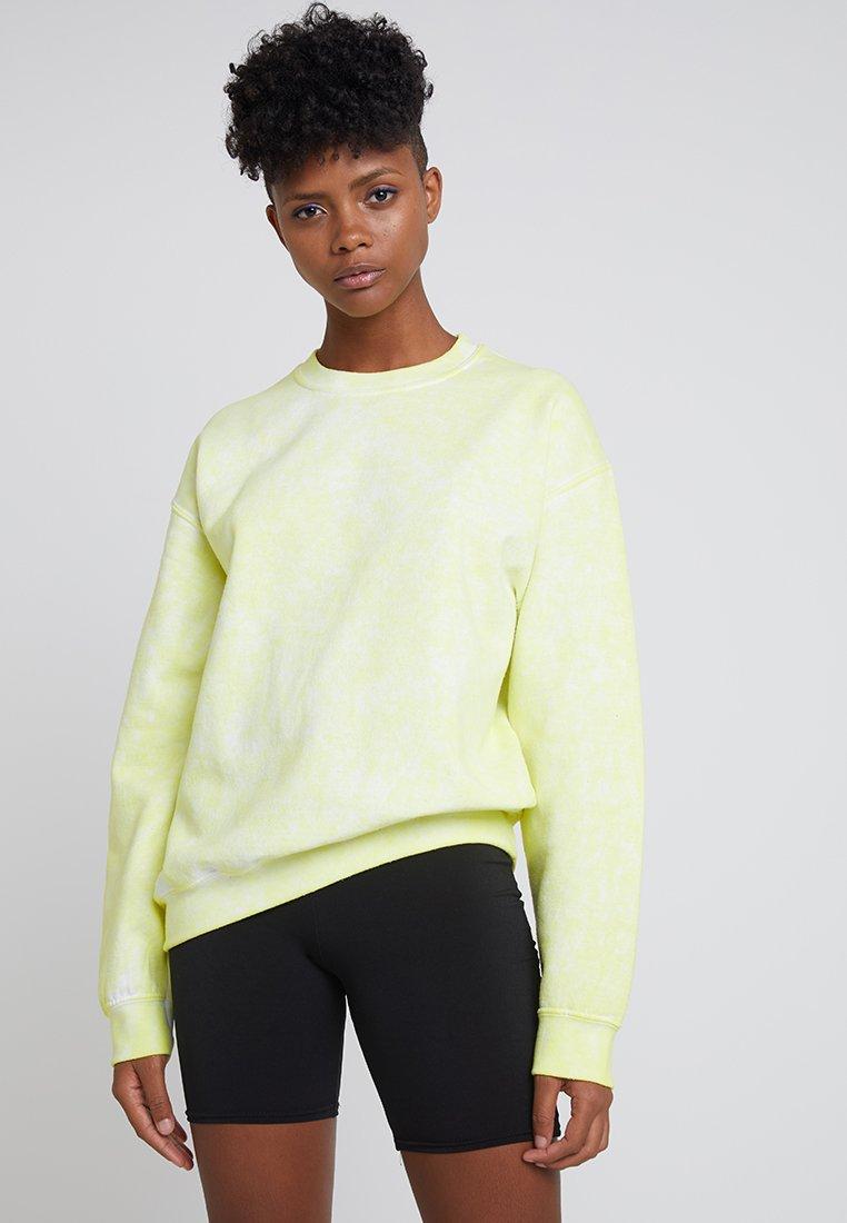 Topshop - FLURO WASHED - Sweatshirt - yellow