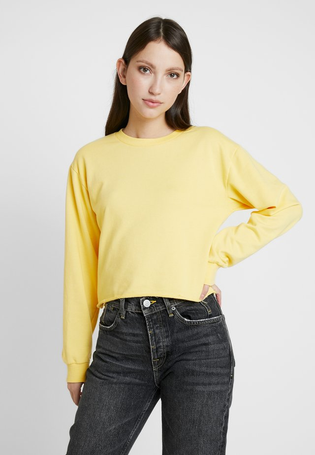 CROP - Sweatshirt - mustard