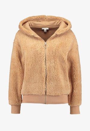 ZIP HOODY - Summer jacket - camel