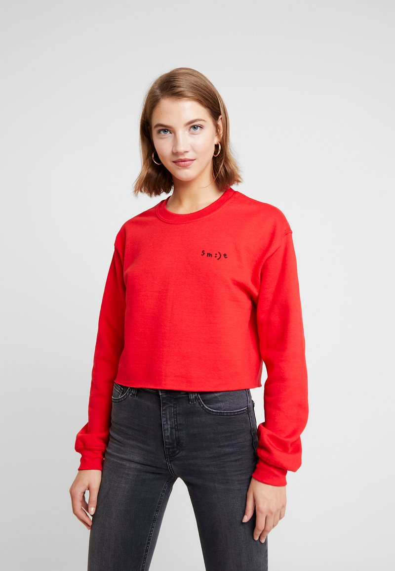 Topshop - SMILE MINI - Sweatshirt - red