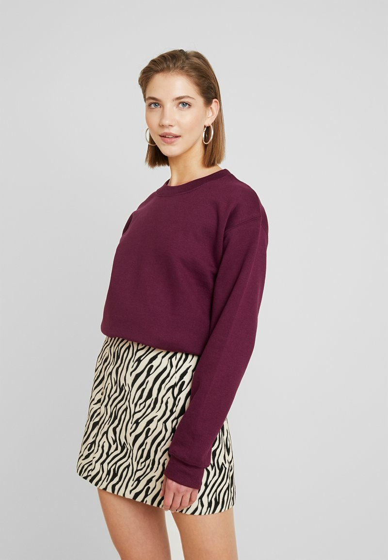 Topshop - EVERYDAY - Sweatshirt - burgundy