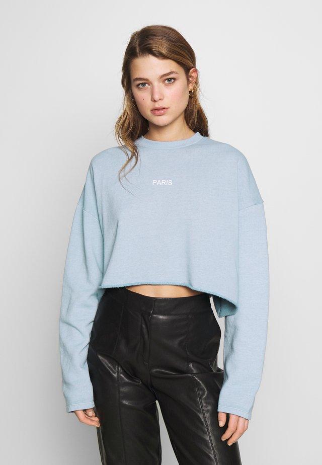 PARIS RAW HEM - Sweatshirt - stone