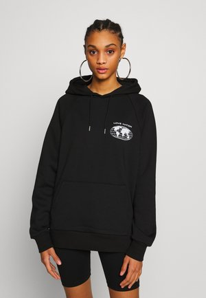 LOVE NATION HOODY - Sweat à capuche - black