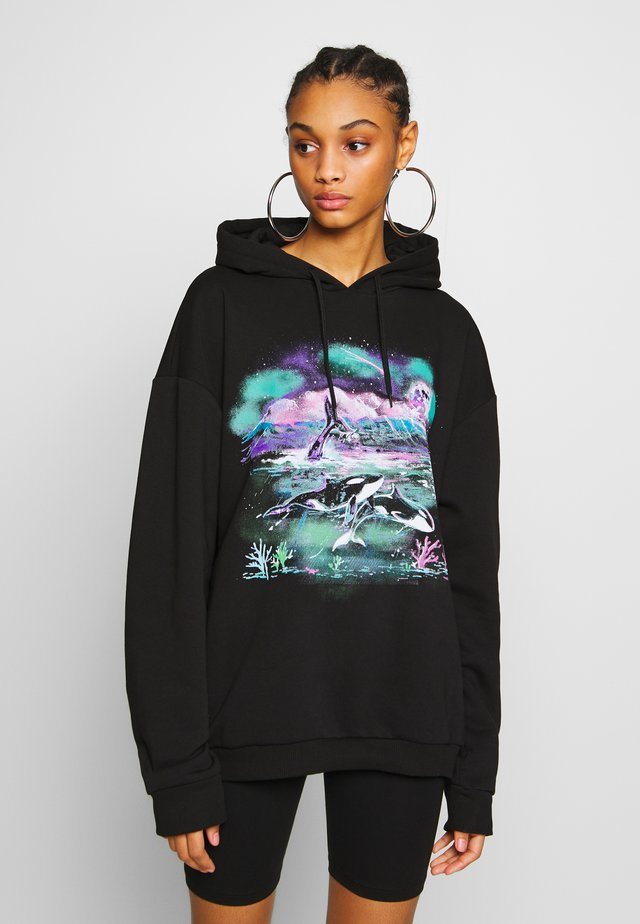 MYSTIC WHALE HOODY - Jersey con capucha - black