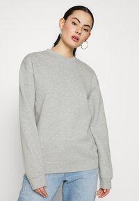 Topshop - PANEL - Sweatshirt - grey marl - 0
