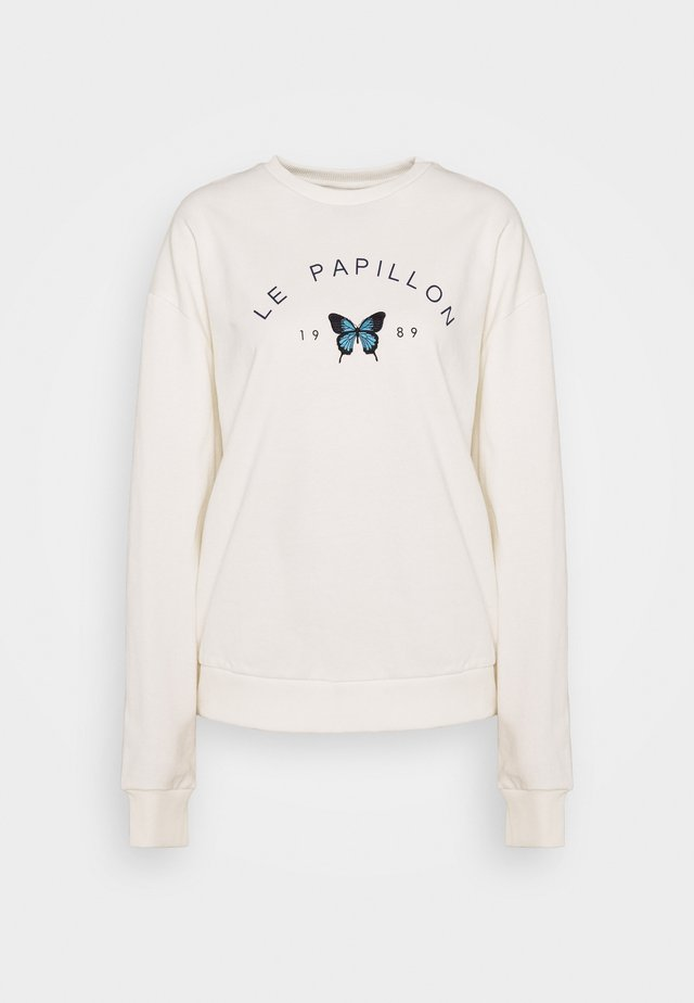 PAPILLON EMBROIDERED SWEATSHIRT - Sweatshirt - white