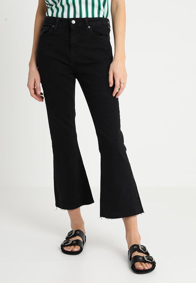 Topshop - DREE - Flared Jeans - washed black