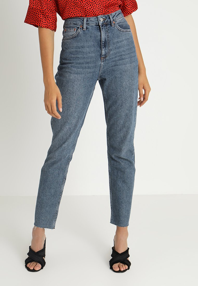 Topshop - STRAIGHT - Straight leg jeans - dark blue