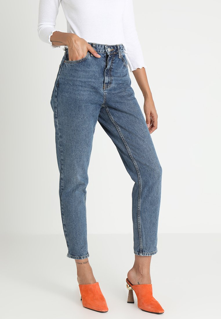 Topshop - MOM NEW - Jeansy Relaxed Fit - mid denim