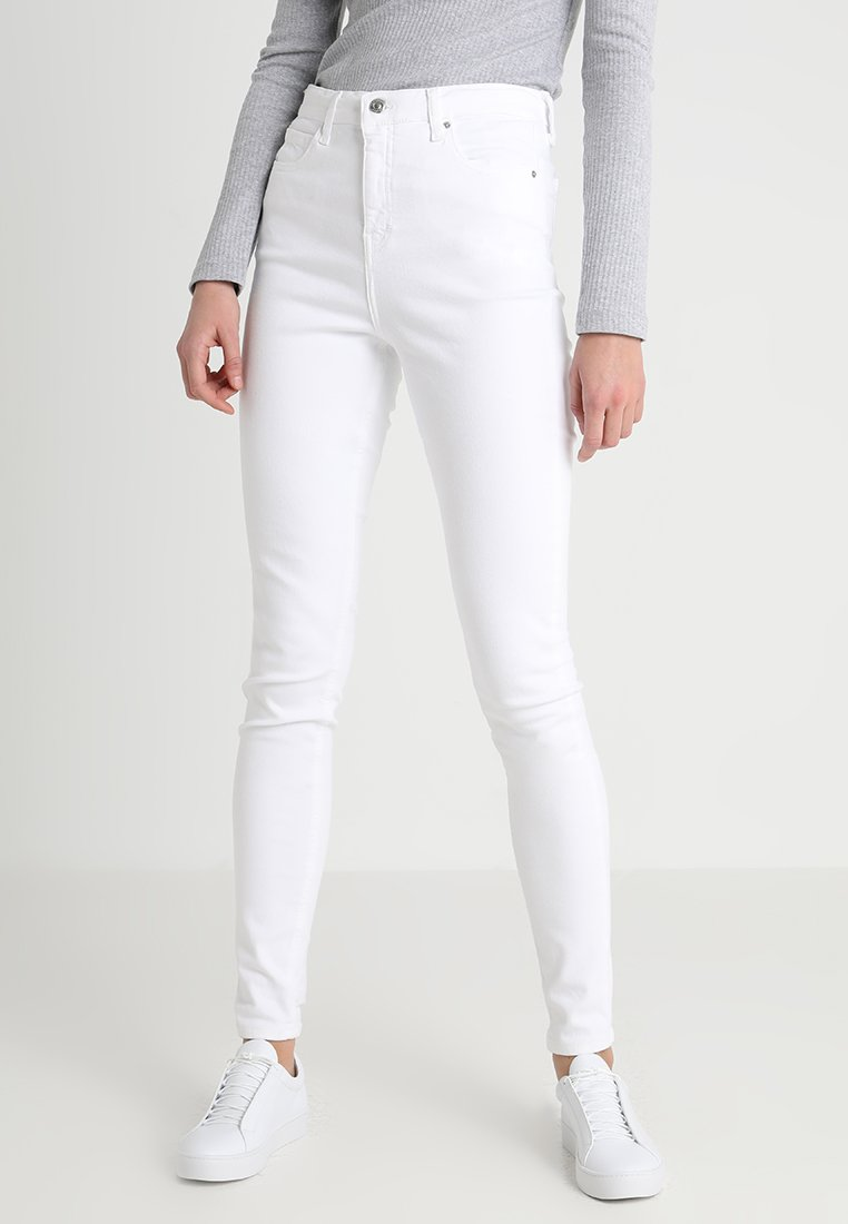 Topshop Tall - JAMIE - Jeansy Skinny Fit - white