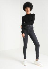 Topshop - JONI - Jeans Skinny Fit - washed black - 1