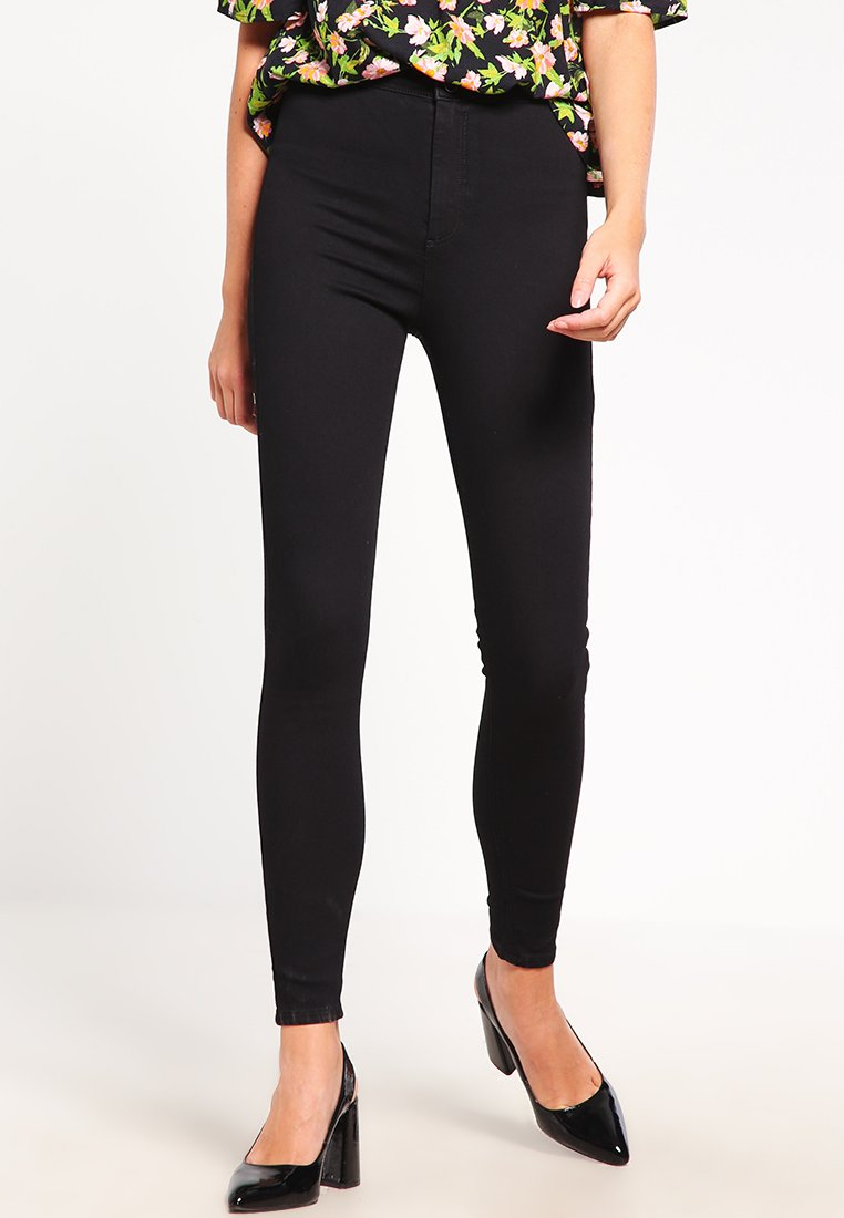Topshop - HOLDING POWER JONI - Jeans Skinny Fit - black