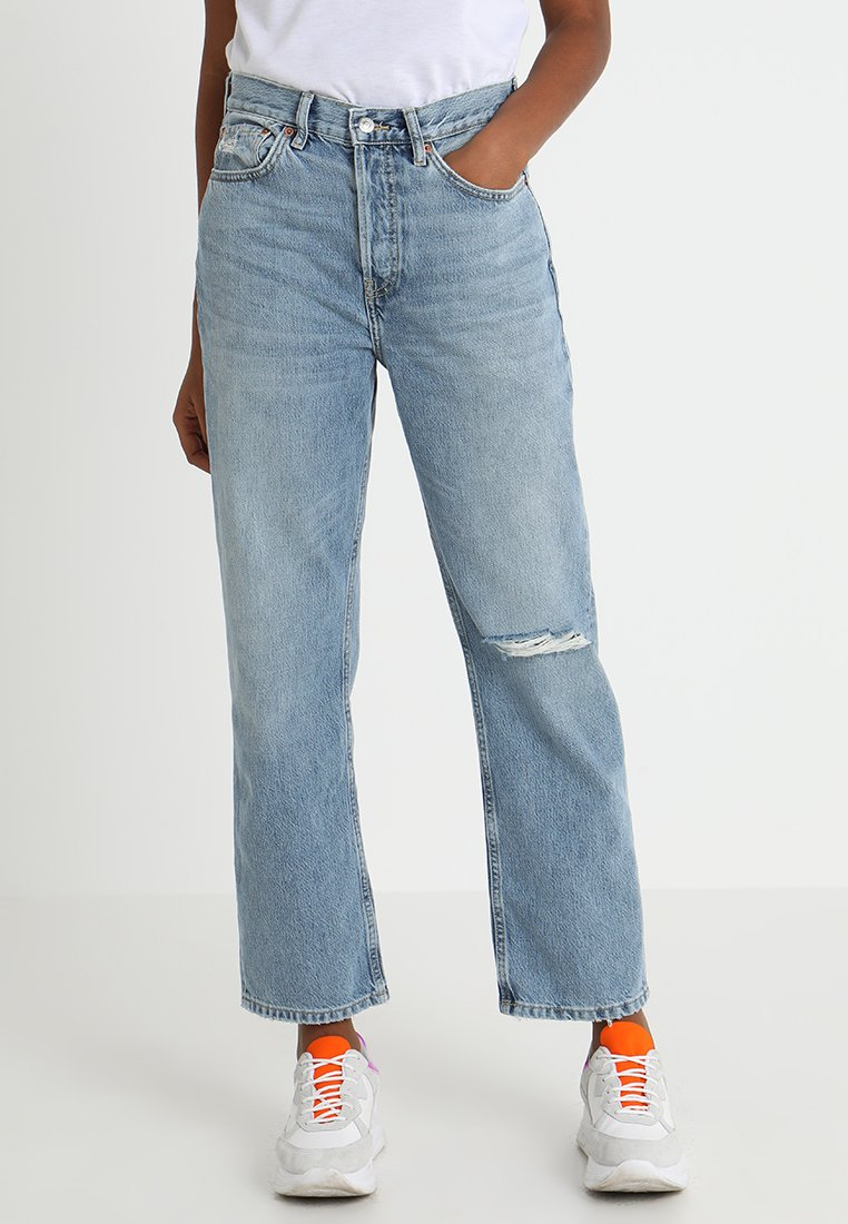 Topshop - RIP NEW - Jeans Relaxed Fit - bleach