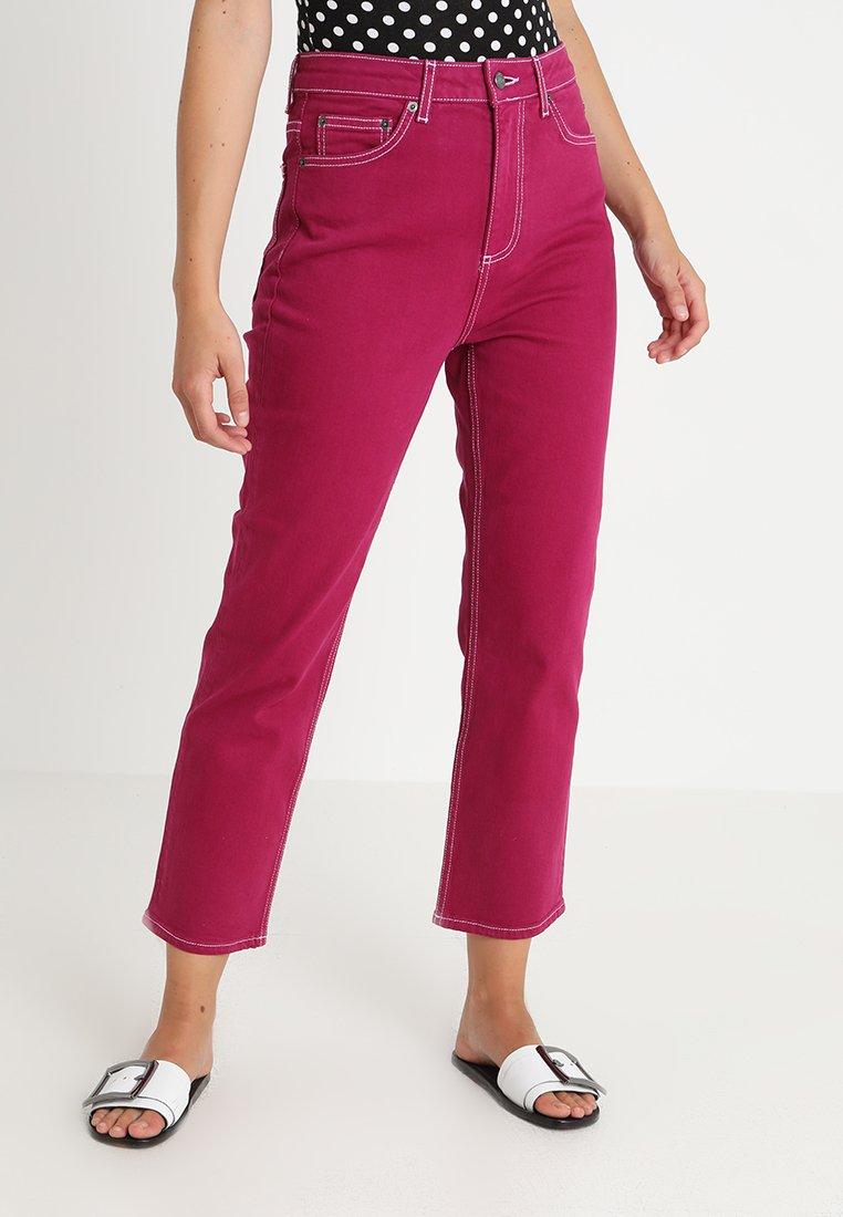 Topshop - STRAIGHT - Jeans straight leg - purple