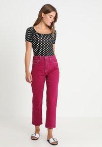 Topshop - STRAIGHT - Jeans straight leg - purple - 1