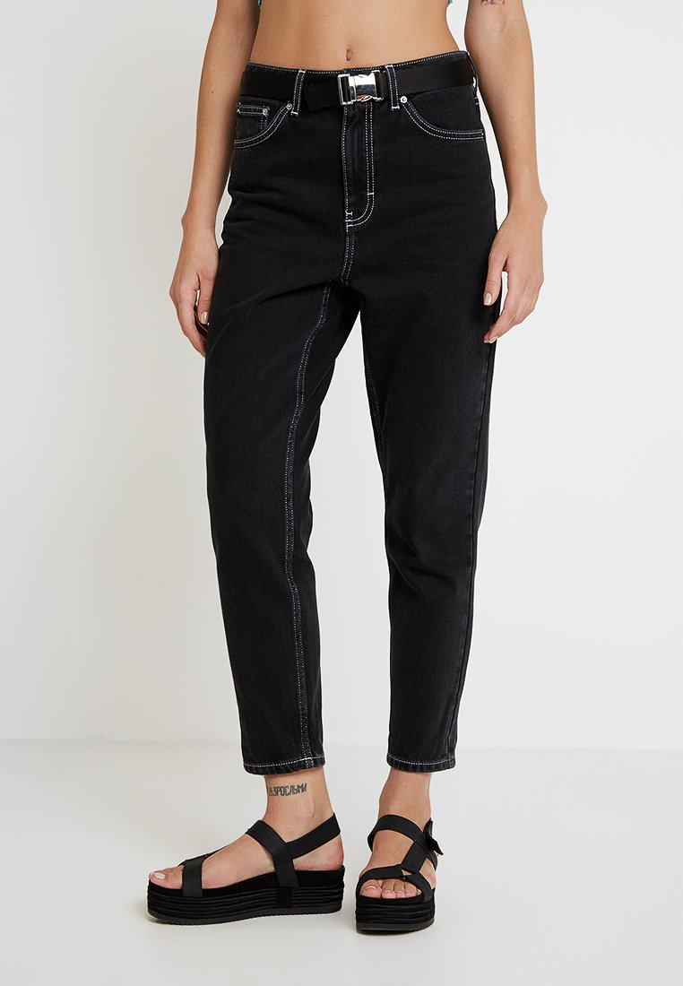 Topshop - SEATBELT MOM - Jeans Relaxed Fit - black