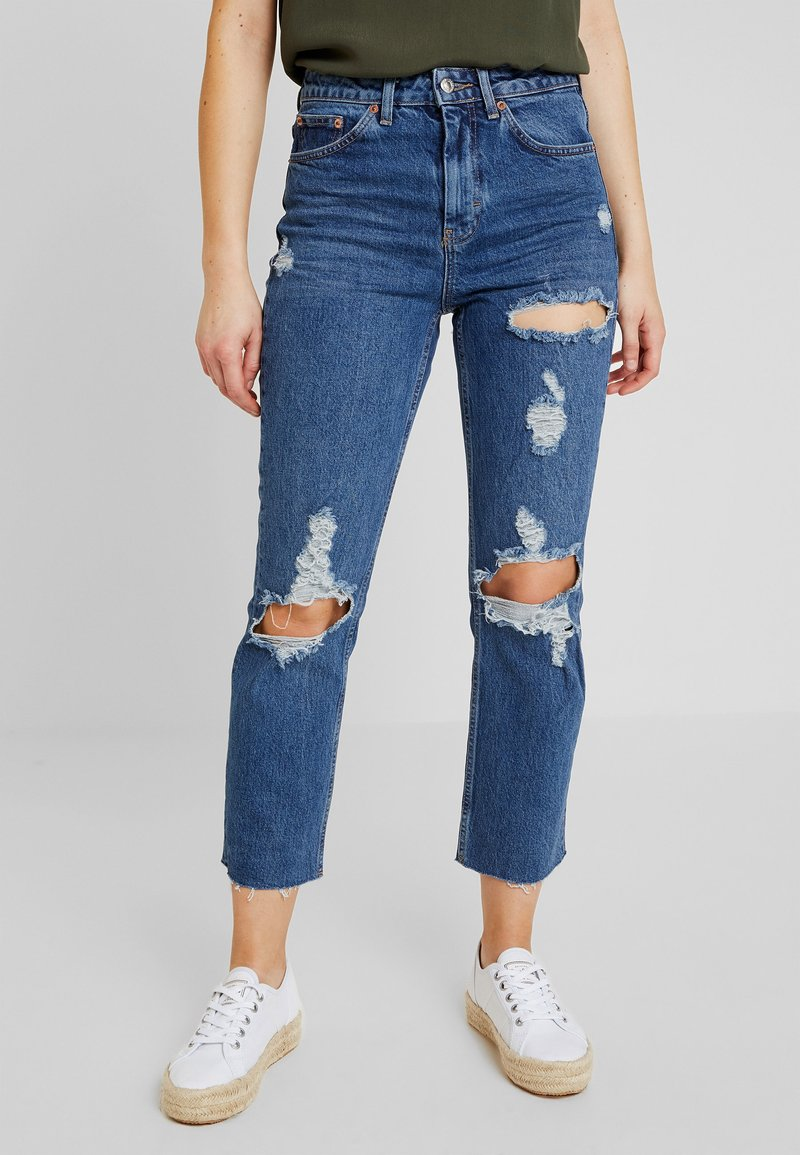 Topshop - Relaxed fit jeans - blue denim