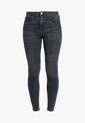 JAMIE NEW - Jeansy Skinny Fit - black denim