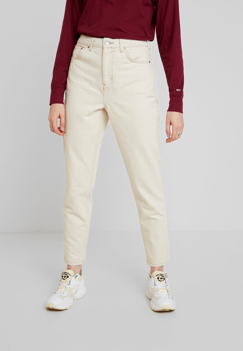 Topshop - MOM NEW - Jeans Relaxed Fit - ecru