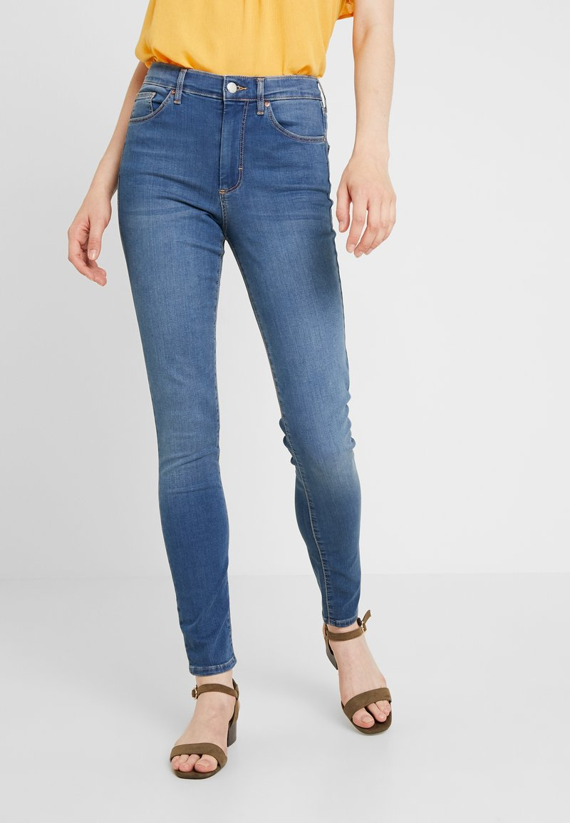 Topshop - LEIGH NEW - Jeans Skinny Fit - blue denim