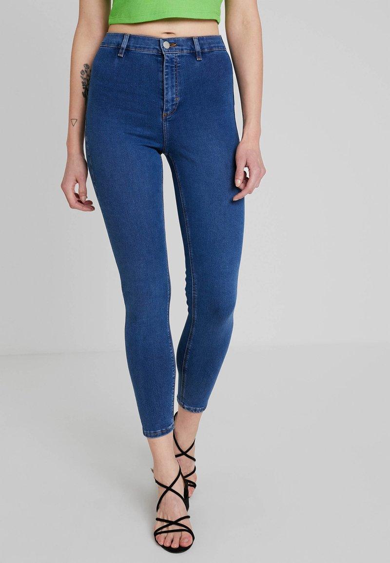 Topshop - BELT LOOP JONI - Jeans Skinny Fit - blue denim