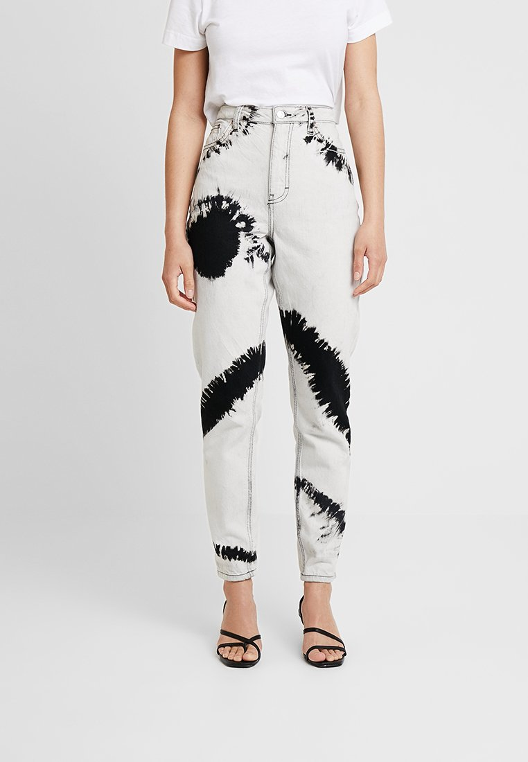 Topshop - TYE DYE MOM - Jeans Relaxed Fit - black