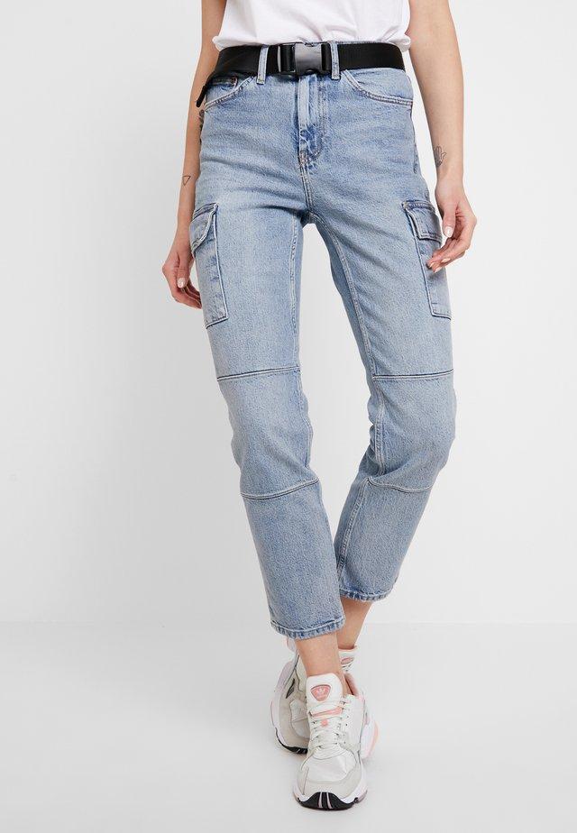 BELT - Jeans slim fit - bleached denim