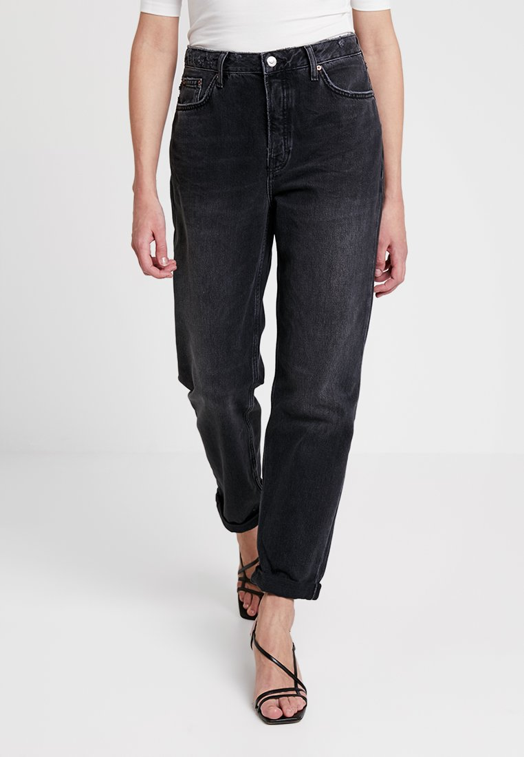 Topshop - HAYDEN - Jeans Relaxed Fit - black denim