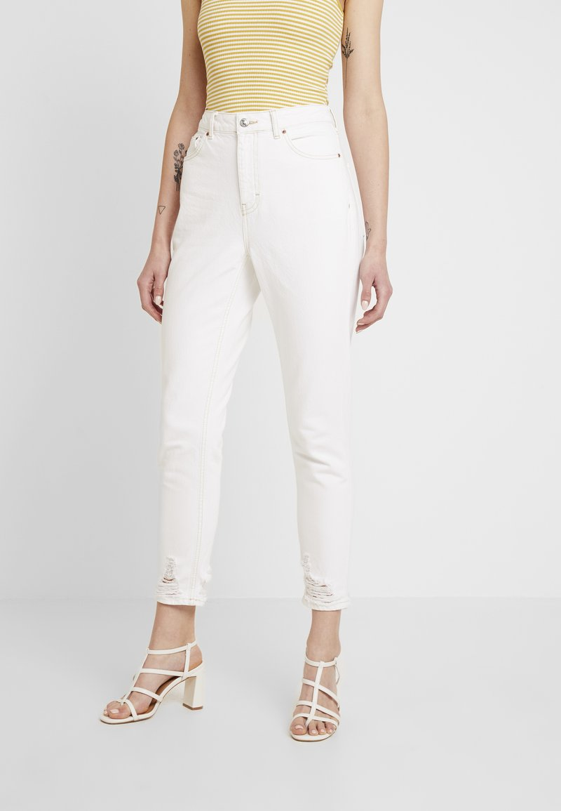 Topshop - RIPHEM MOM - Jeans Relaxed Fit - white