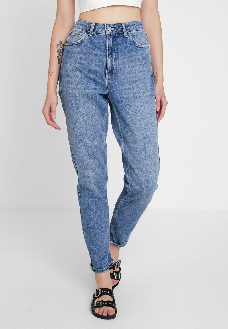 Topshop - MOM - Jeans baggy - blue denim