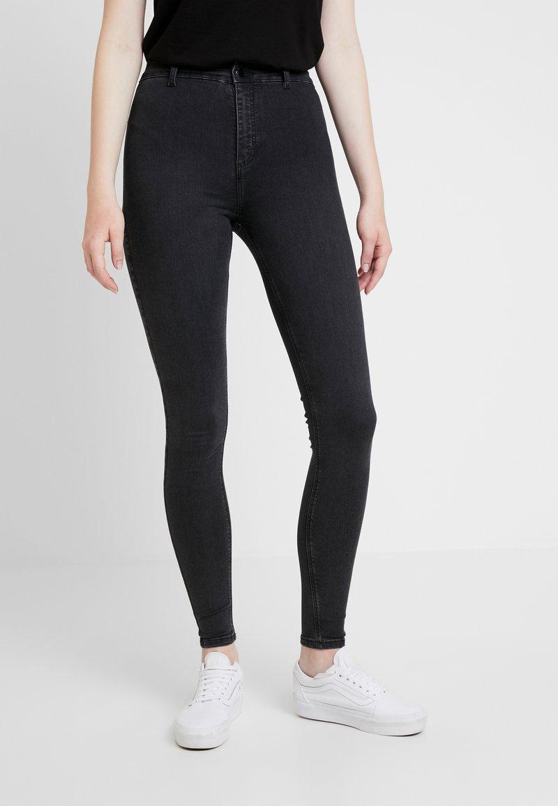 Topshop - JAMIE JAGGED HEM - Jeans Skinny Fit - washed black